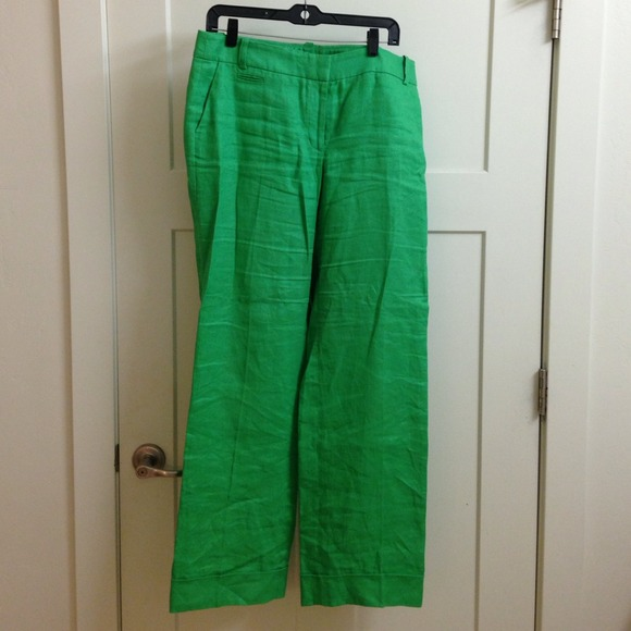 79% off J. Crew Pants - JCREW Green Linen pants from Hallie's ...