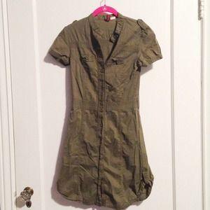 H&M Dresses & Skirts - Army Green Shirt Dress