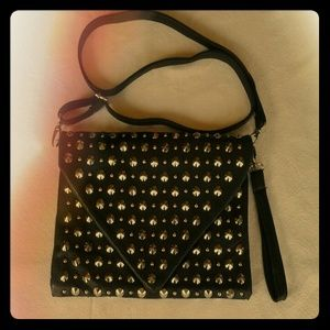 Sale!  Cool black shouler/clutch