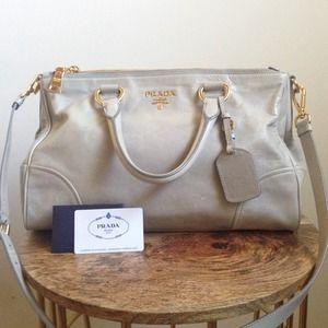8% off Prada Handbags - Prada Vitello Shine Double Zip Shopping ...