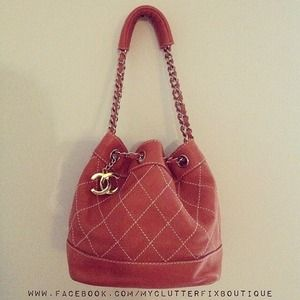 Chanel Pink Bucket Bag