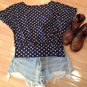 Juicy Couture polka dot blousy top