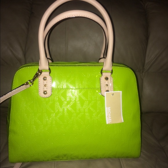 11% off Michael Kors Handbags - Lime green Michael Kors handbag ...