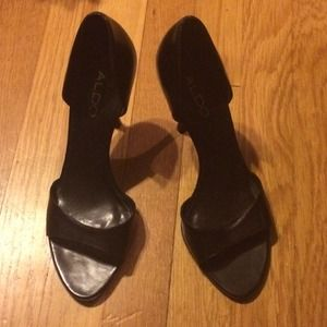 Aldo's size 8.5 open toe shoes