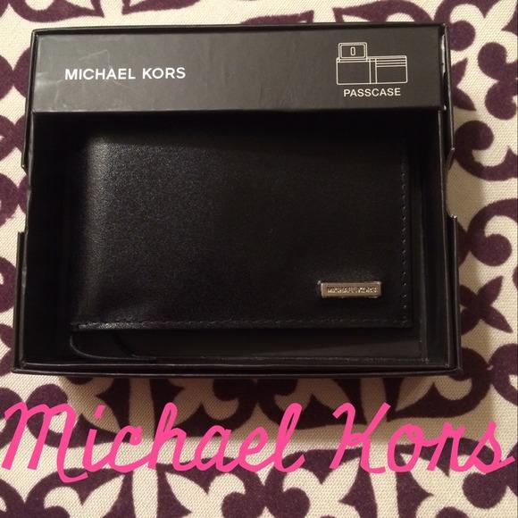 8885efa7782f Michael Kors Bags | Mens Black Passcase Wallet Smooth | Poshmark