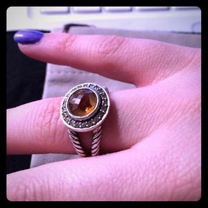 Authentic citrine david yurman ring