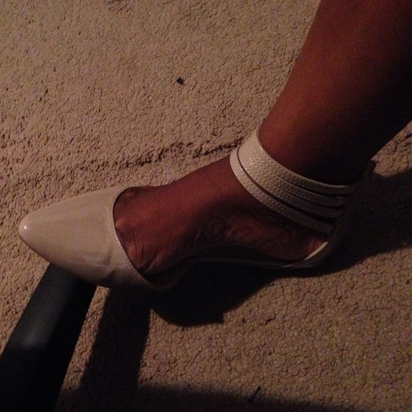 Shoes - Nude Ankle Strap Flats