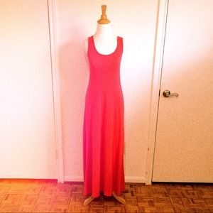 Dresses & Skirts - Red Coral Jersey Maxi Dress