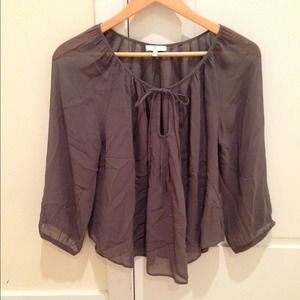 Joie Grey Silk Blouse