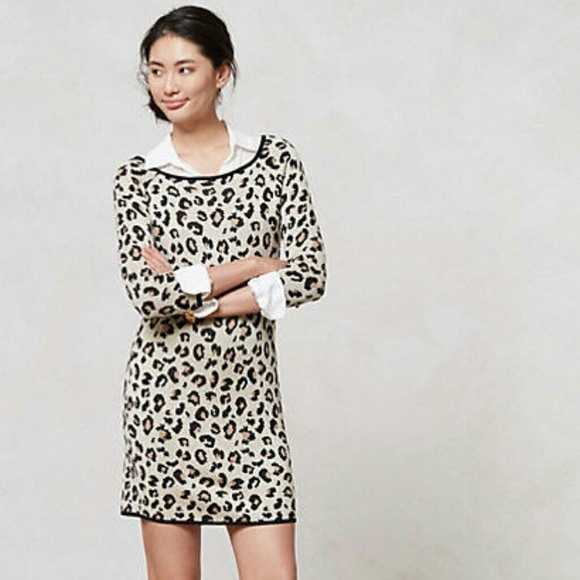 7fa700d3c2 Leopard print sweater dress from Anthropologie