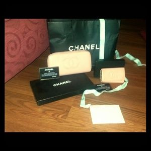 Chanel authentic wallet and keybholder set.