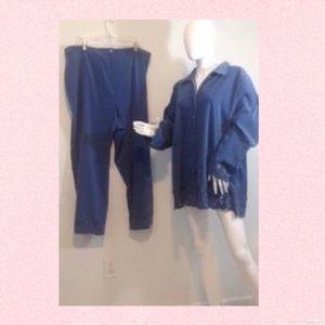august max Pants - August Max Woman blue pants suit sz 26W, 2X