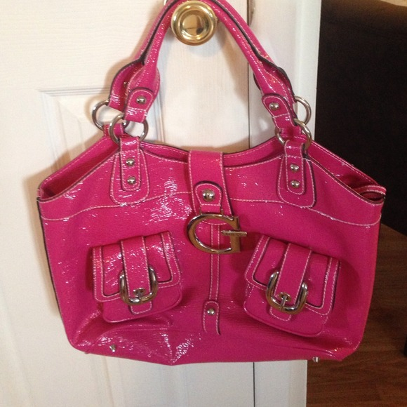 71% off Guess Handbags - Hot pink leather guess bag from Allyson's ...
