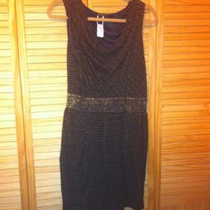 Black & Gold Mango dress