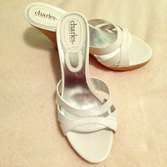 85 charles david shoes charles david white wedges