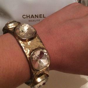 Authentic Kenneth Jay Lane Gold Hinge Bracelet
