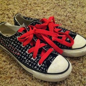 e2f9a36b13d7 Converse Shoes - Word search-patterned Converse sneakers
