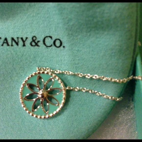 c09dcedb3 Tiffany & Co. Jewelry | Tiffany Blue Enamel Daisy Pendant | Poshmark