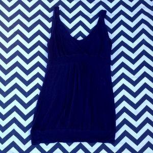 Tops - Navy Blue V-Neck Top