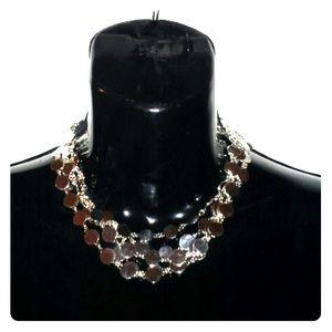 EXPRESS Silver Pave Necklace