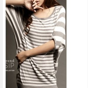 Sweaters - NEW oversized light weight striped tunic sweater