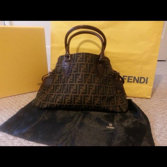a4eaa438be NEW Fendi Jacquard Zucca  Bag De Jour  Satchel