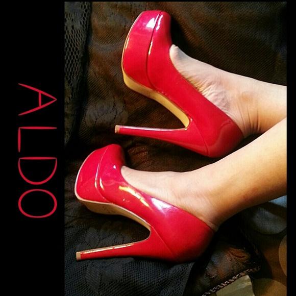 667318053f3 ALDO Shoes - ALDO Red Patent Platform Pumps