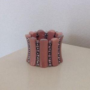 Jewelry - Pink cuff stretchy bracelet