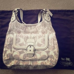 Coach Campbell Snake Print Hobo