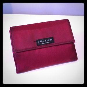 Kate Spade red satin wallet