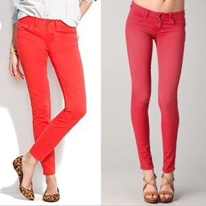 Red Madewell skinny jeans