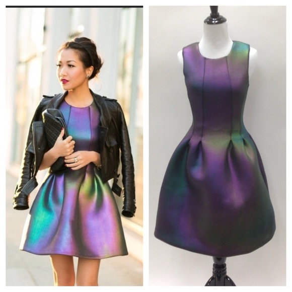 Holiday dresses for women women dresses - 51 Off Cynthia Rowley Dresses Amp Skirts Iridescent Rainbow Neoprene