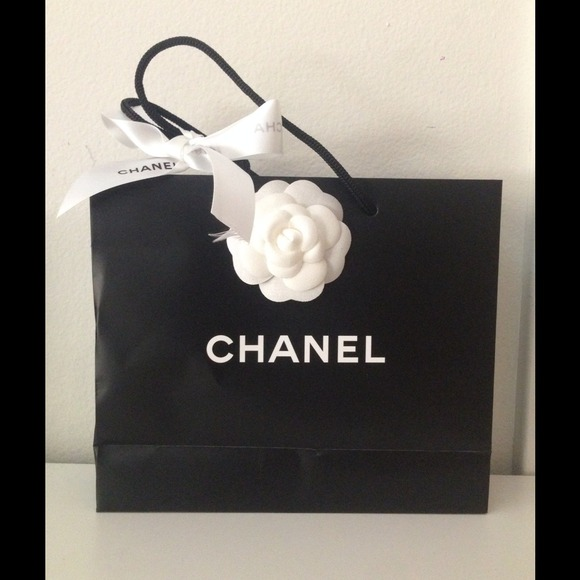 1bbdb90a2b7d19 CHANEL Accessories | S Shopping Bag With Ribbon And Flower | Poshmark