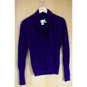 Kaisely angora purple sweater