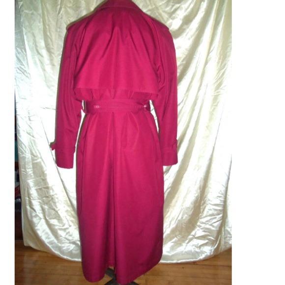 London Fog Jackets & Coats - London Fog Raspberry Trench Coat