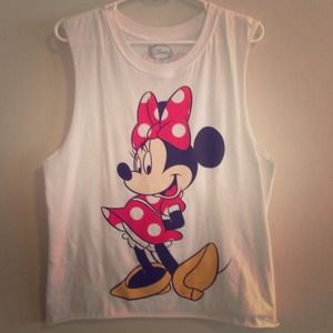 Tops - Minnie Mouse Cut Off Tank