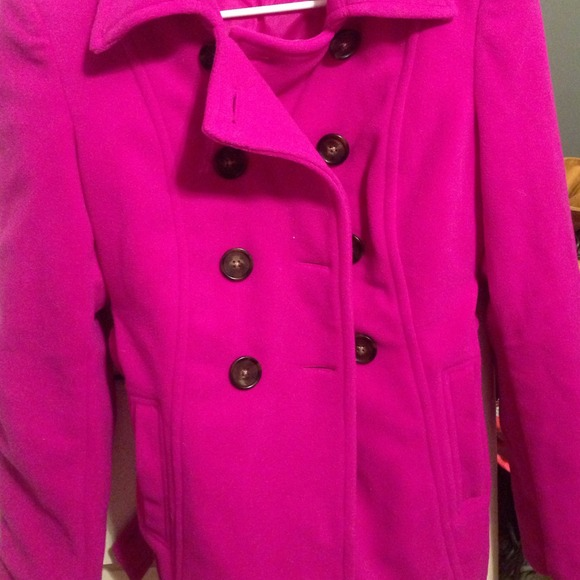 64% off Old Navy Outerwear - Purple pea coat, size small. Perfect ...
