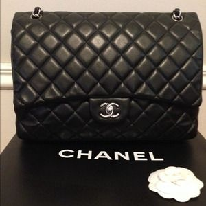 Authentic Chanel Lambskin Maxi Flap Bag