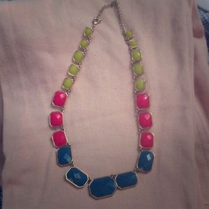 Stylish Three Tone Statement Necklace