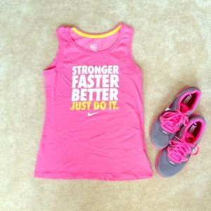 Nike Tops - Nike Women's Workout Sleeveless Pink Tee 👟🎀 1