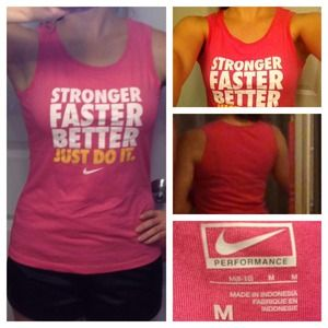 Nike Tops - Nike Women's Workout Sleeveless Pink Tee 👟🎀 4