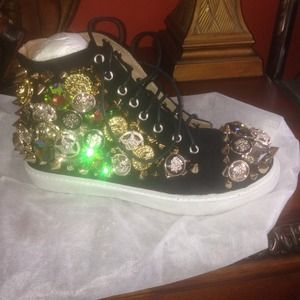 Shoes - Jeffrey Campbell rhinestone suede sneaker