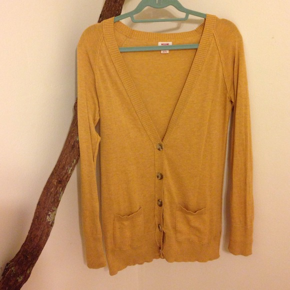 35% off Mossimo Supply Co. Sweaters - Mustard yellow boyfriend ...