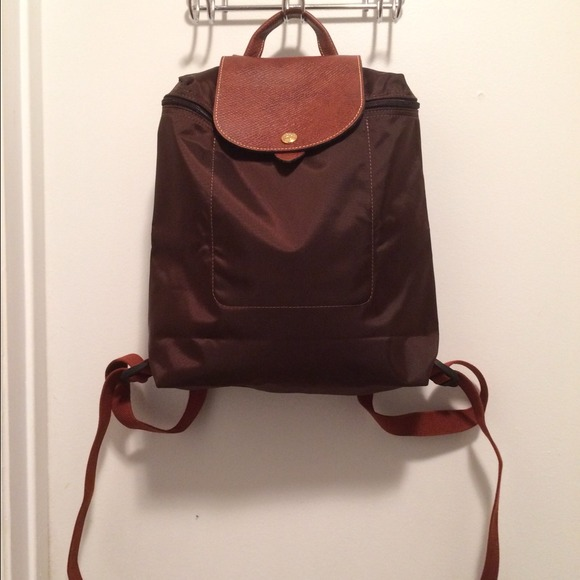 plus près de la qualité d'abord éclatant Longchamp Le Pliage Sac A Dos Brown Backpack