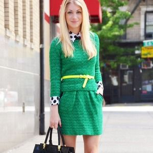 ASOS Dresses & Skirts - Green knit 2 piece sweater set