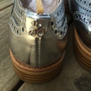 Sam Edelman Shoes - On Hold Sam Edelman Jerome Silver Oxfords 2