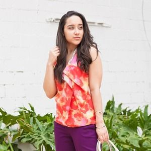 Multicolored Floral Print Sleeveless Top