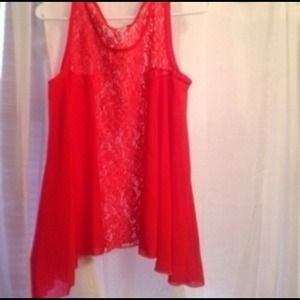 Tops - Flowy Blouse With Lace