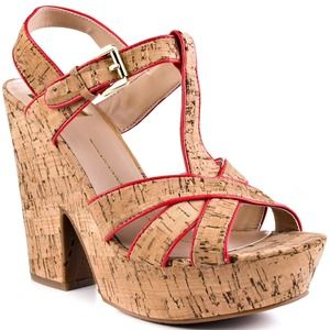 DV by Dolce Vita Shoes - DV Dolce Vita Cork Wedges with Neon Detail