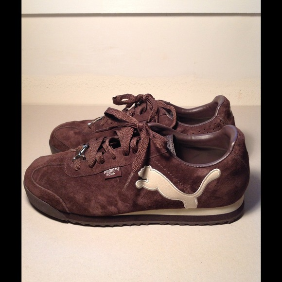 38 off puma shoes puma brown suede women sneakers from